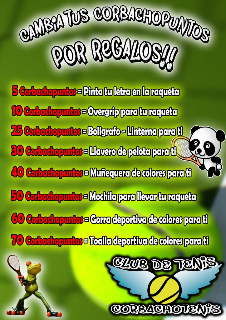 Cartel Corbachopuntos Escuela Tenis niños madrid